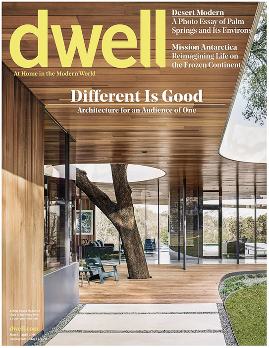 The cover of Dwell magazine