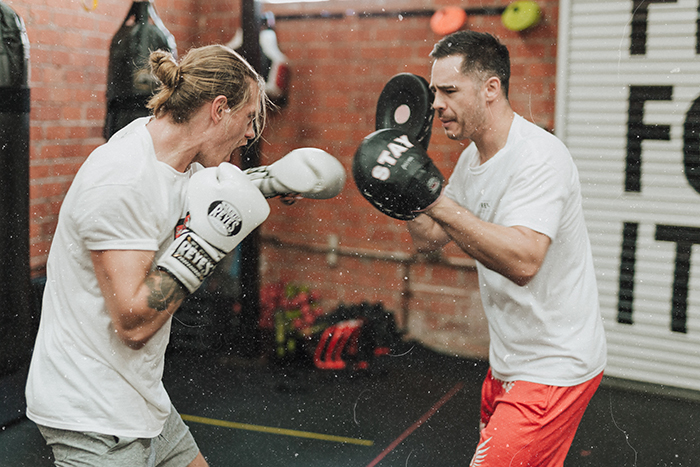 two men training for a boxing match