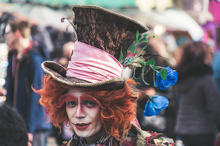 Cosplay photography of a person dressed as the mad hatter