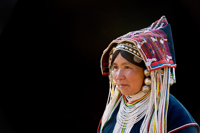 Powerful portrait of an elderly woman in traditional dress as part of a photography zine