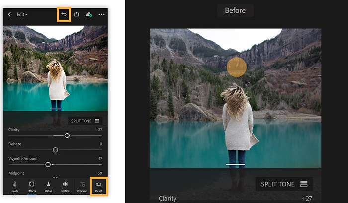 A screenshot from Lightroom CC, one of the best Photoshop versions