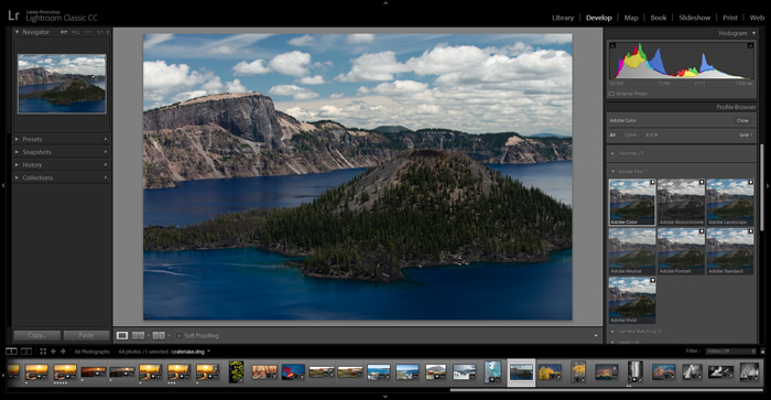 A screenshot from Lightroom classic, one of the best Photoshop versions