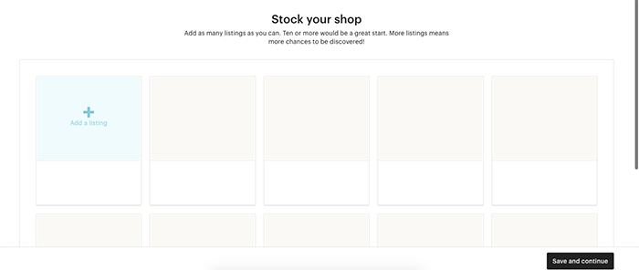 A screenshot of ADDING LISTINGS to sell photography on etsy