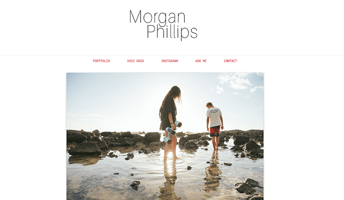 A screenshot from the Photos by Morgan Philips Tumblr photography blog
