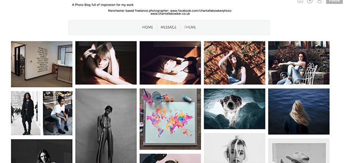 A screenshot from a Tumblr photography blog