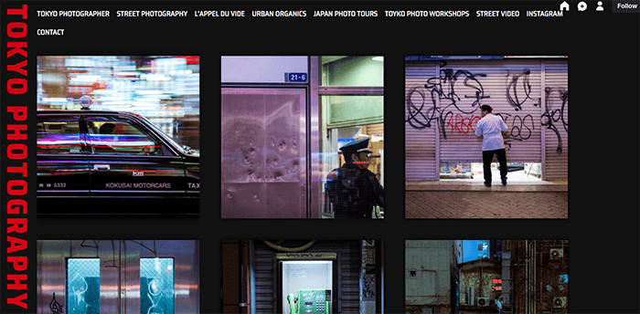 A screenshot from the Tokyo Photography Tumblr photography blog