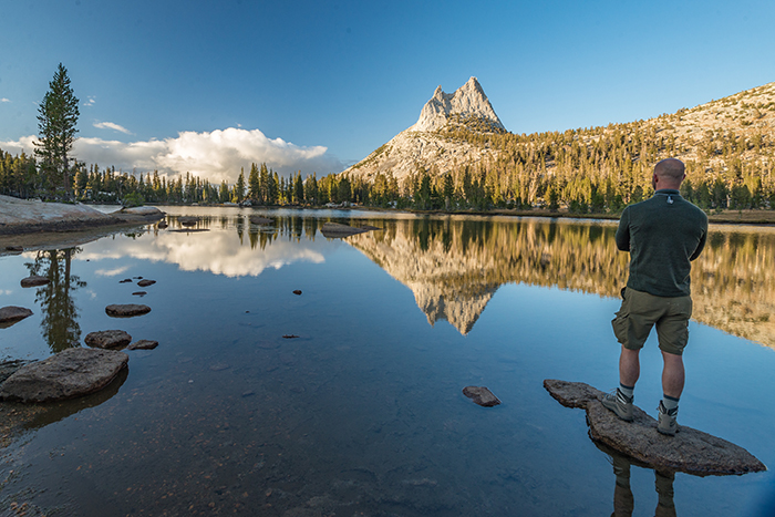 A stunning view of Cathedral Peak in Yosemite park