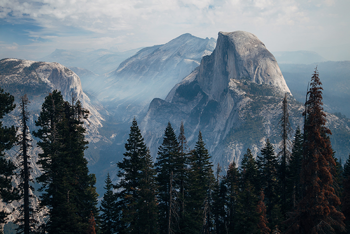 Sentinel Dome - one of the best viewing spots in Yosemite national park
