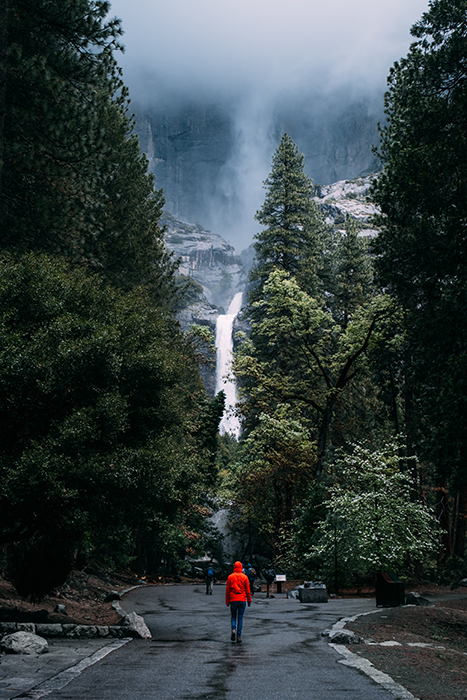 Dramatic photo of the Highest Waterfall in Yosemite Park - best photography locations