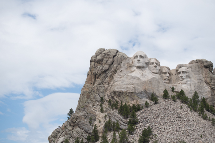 mount Rushmore on a cloudy day, utilizing dynamic range in photography