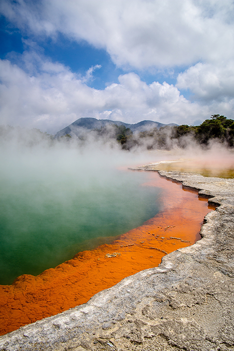 A stunning volcanic landscape in New Zealand