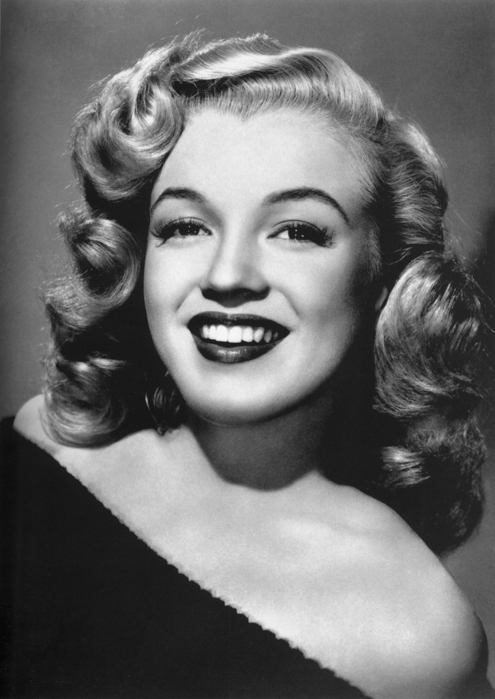 black and white vintage portrait of Marilyn Monroe
