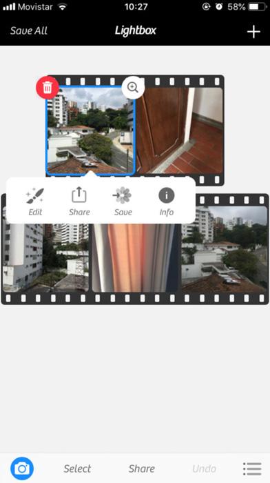 A screenshot of the Camera+ Interface - best iphone app