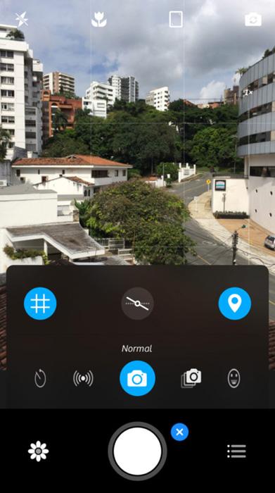 A screenshot of the Camera+ Interface