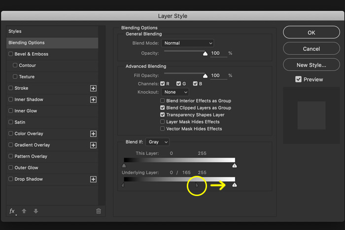 a screenshot showing how to selectively affect highlights in Photoshop