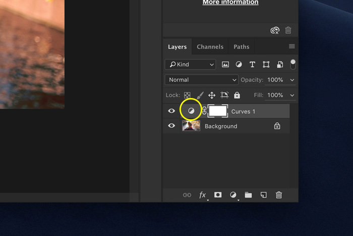 a screenshot showing how to set a layer style in Photoshop