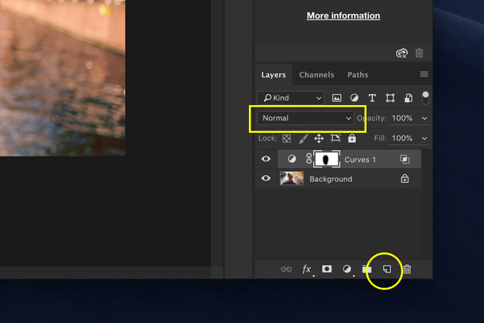 a screenshot showing how to use create a layer in Photoshop