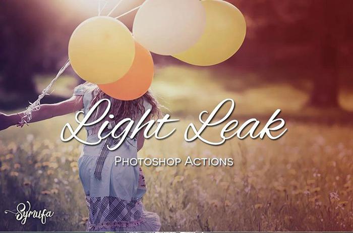 Film Light Leak Effect Action - free photoshop actions
