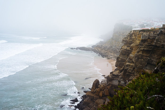 Atmospheric portrait of a coastal landscape edited using Lightroom dehaze feature