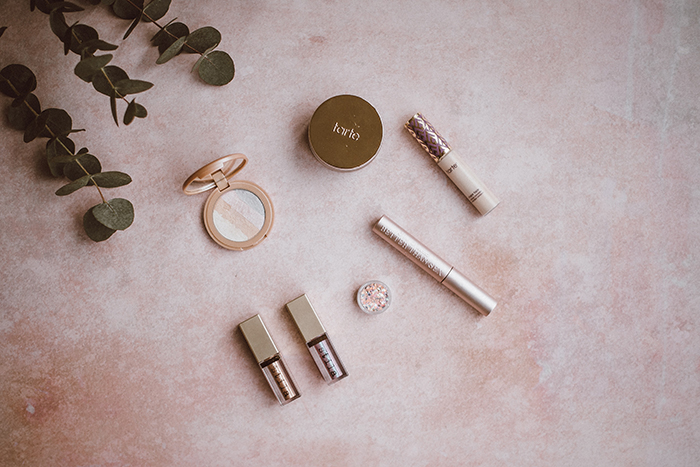 Flatlay cosmetic product photography shot