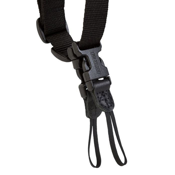 A close up of the straps on the OP/TECH USA Double Sling
