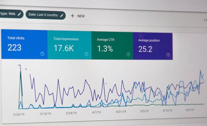 a screenshot of google analytics - seo for photography