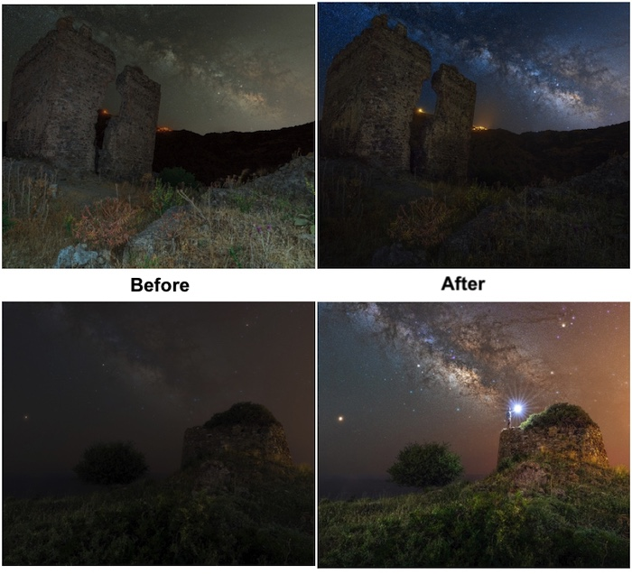 Example of editing using Orionh Plus - astrophotography editing