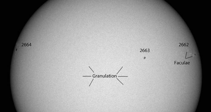 the subtle, granular appearance of the Sun's photosphere