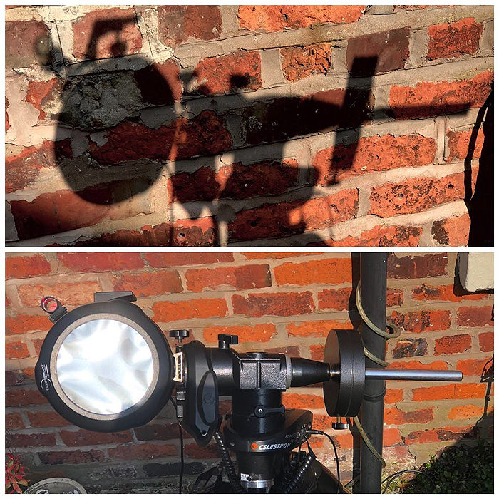 a solar finder for taking photos of the sun
