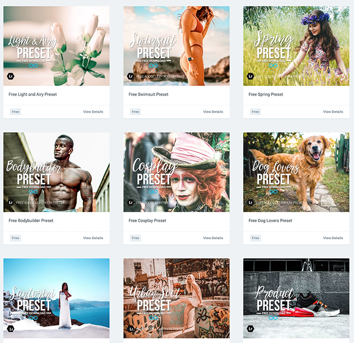 A screenshot of Photonify free sample Instagram presets