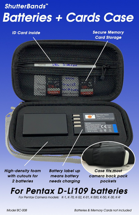 Shutterbands batteries and cards case