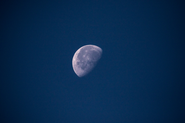 the moon shot with a super telephoto lens