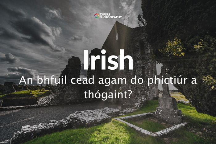 how to say can i take a picture in Irish