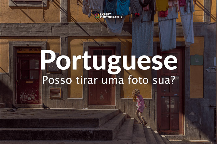 how to say can i take a picture in Portuguese