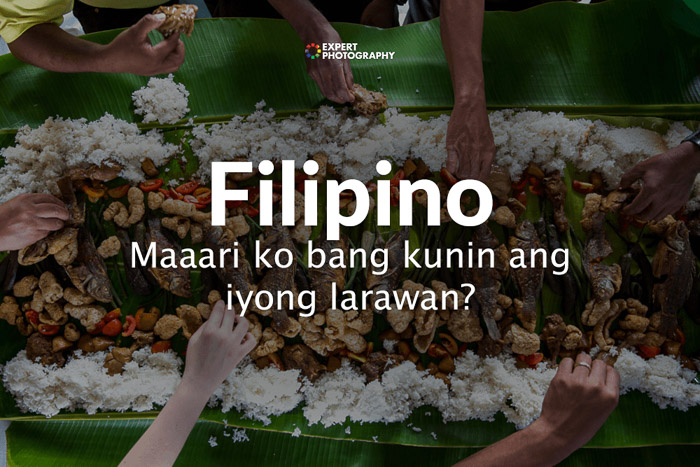 how to say can i take a picture in Filipino