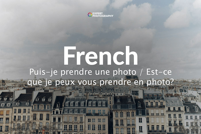 how to say can i take a picture in French