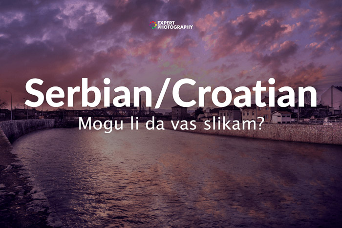 how to say can i take a picture in Serbian/Croatian