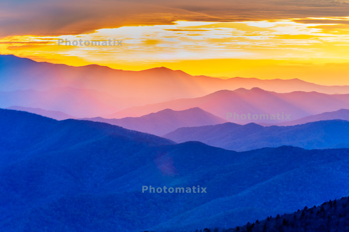 A mountainous landscape at sunset enhanced with Photomatix hdr software