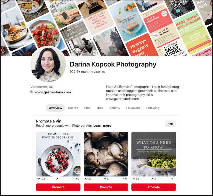 a screenshot of Darina Kopcok website - How to Get Photography Clients