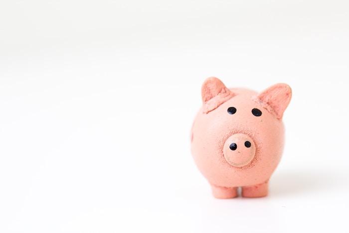 a photo of a cute piggy bank