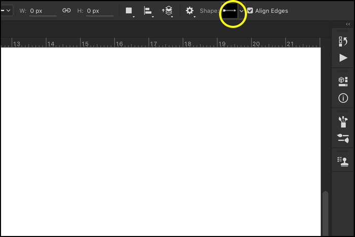 A screenshot showing how to select the Custom Shape tool in Photoshop