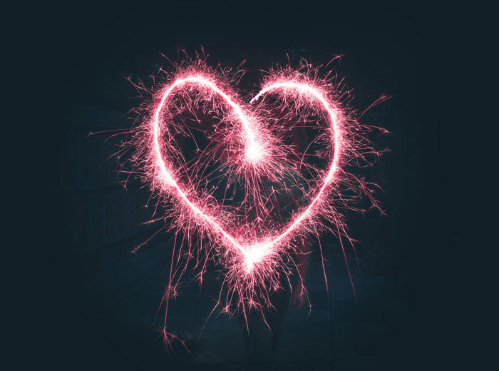 a light painted heart shape - symbolism in photography
