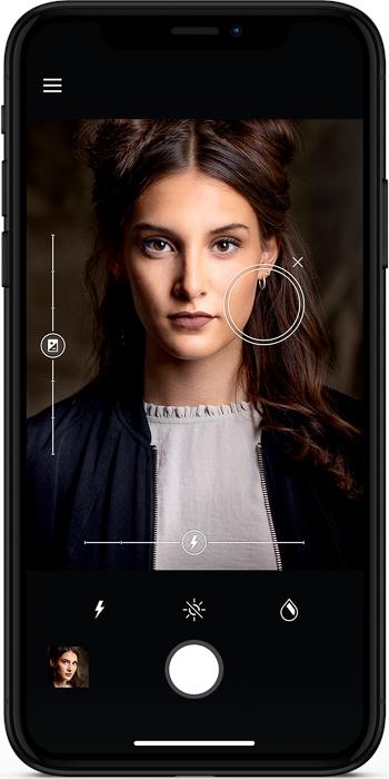 the Profoto b10 flash smartphone app interface