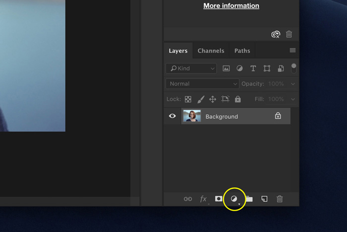 a screenshot showing how to add a vignette in Photoshop