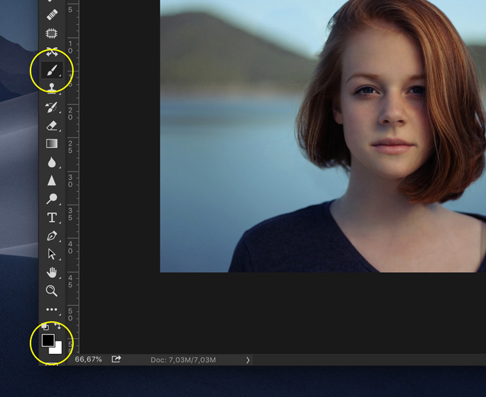 Editing a portrait photo in Photoshop