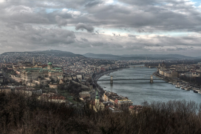 A stunning view of Budapest from Gellért-Hill - photography locations in Budapest