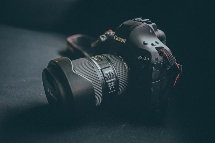 a Canon EOS 1 D camera