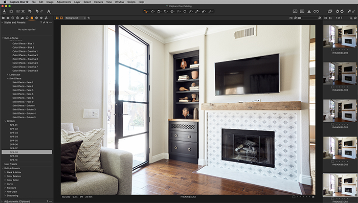 Screenshot of Capture One styles