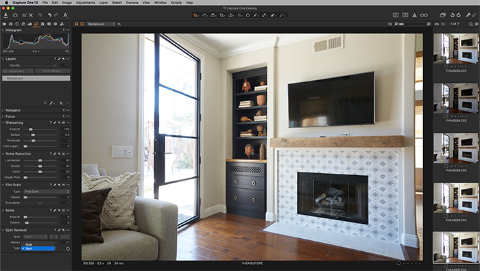 Screenshot of Capture One spot removal tool