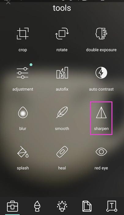 Screenshot of photo editing app Pixlr